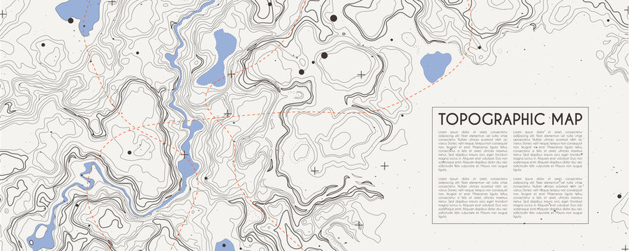 Abstract topographic map background. Topo backdrop lines, contour, geographic grid