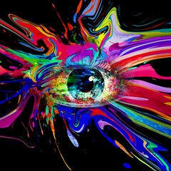 abstract background with colorful eye