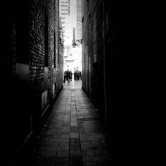 Foto op Textielframe Smal steegje Narrow Alley