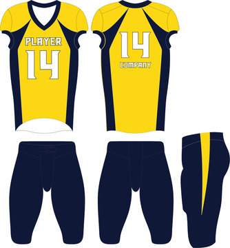 American football uniforms Custom Design Illustration Vector