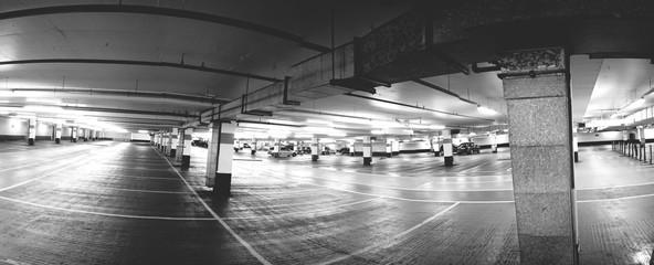 Empty Parking Garage Fototapete