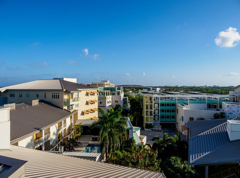Camana Bay, elevated view, George Town, Grand Cayman, Cayman Islands