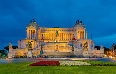 Monument Vittorio Emanuele II or Altar of the Fatherland in Rome.