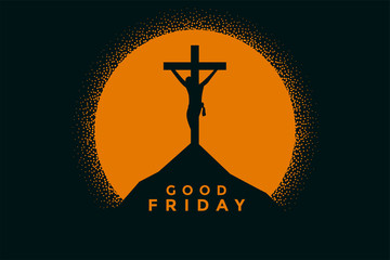 good friday background with jesus christ crucifixion