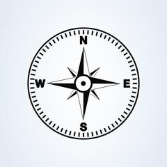 Compass icon, navigation outdoor symbol design. simple illustration