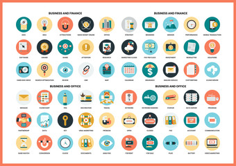 Business icons set for business Wall mural