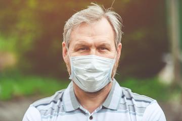 Human, quarantine period and medical mask-coronavirus pandemic