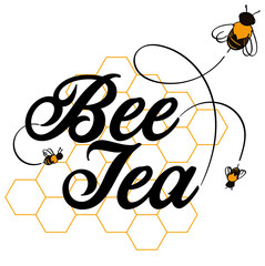 Honeybee Bee Tea Word Art