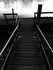 Steps Leading To Pier