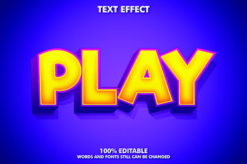 Play Word Powerful GameText Effect
