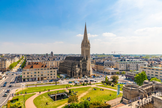 XIII century St. Peter Catholic church in Caen, Normandy, France