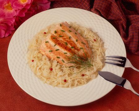 Choucroute saumon