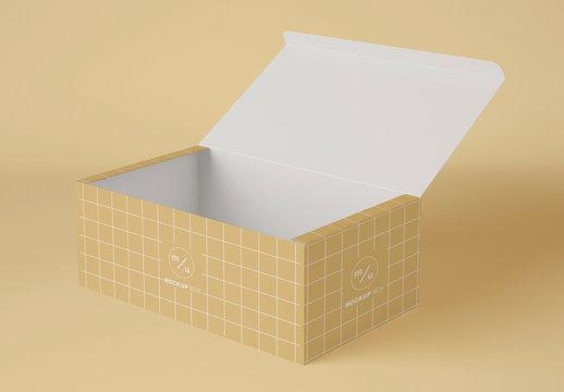 Paper Opened Box Mockup