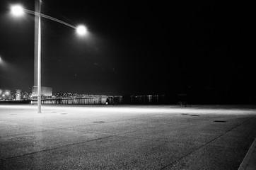 Obraz Surface Level Of Empty Road At Night - fototapety do salonu