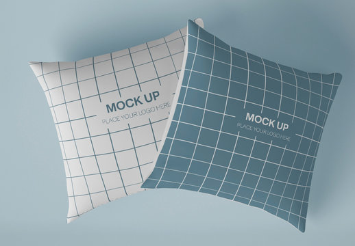 Two Square Pillow Mockup