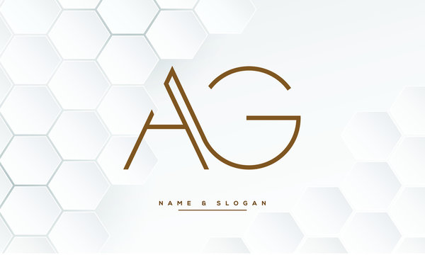 AG ,GA ,A ,G  letters abstract logo monogram