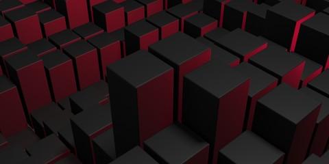 Abstract Dark Cubes Futuristic Design Background Fotoväggar