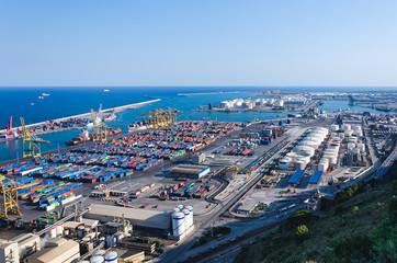 Harbour. Port in Barcelona, Spain