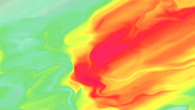 Weather forecast heat map. Atmosphere front motion. Warm and cold air masses visualization. Fluid motion.