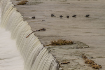 The spillway at White Rock Lake. Dallas, Texas.