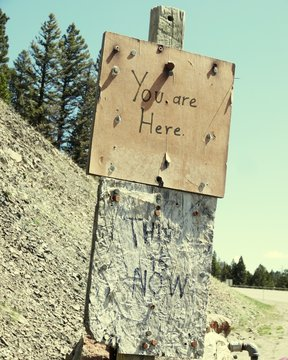 You Are Here Sign On Wood