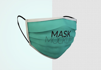 Face Protection Mask Mockup
