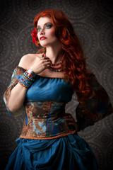 beautiful redhead gypsy