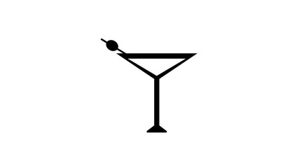 Summer cold drink thin line icon.  illustration with a glass of drink