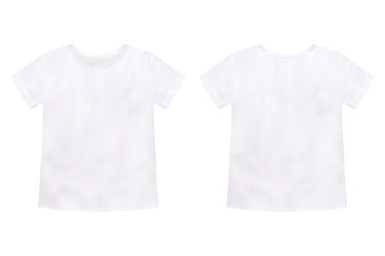 Children's t-shirt mockup isolated on white background. Unisex tee template