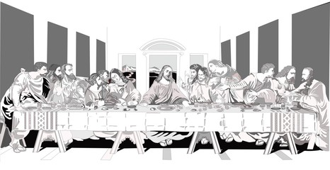 Fototapeta  Icon of the Last Supper. Chapel of the Convent of the Holy Trinity