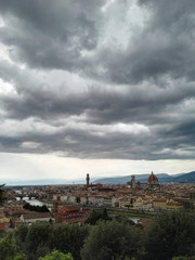 Foto op Aluminium Cityscape Against Cloudy Sky