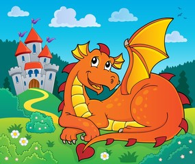 Poster Enfants Lying dragon theme image 2