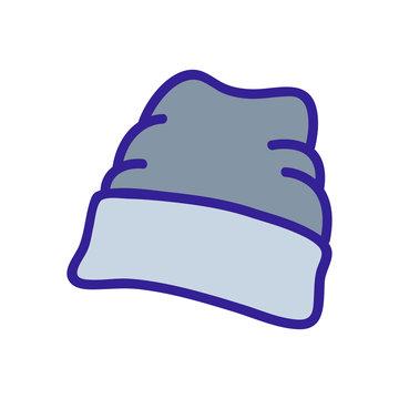 wide lapel beanie icon vector. wide lapel beanie sign. color symbol illustration