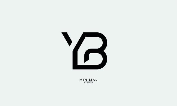 Alphabet letter monogram icon logo YB