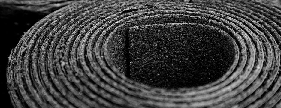 Detail Roofing felt. Roll of Bitumen
