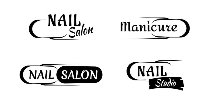Manicure and nail logo