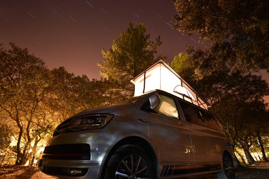 Campervan Camping Nacht