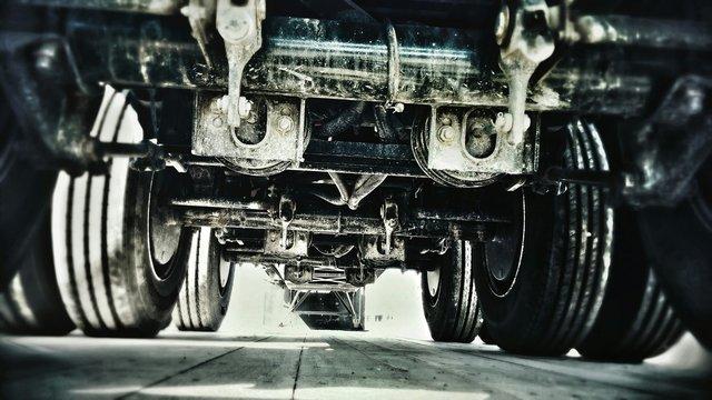 View Of Semi-truck