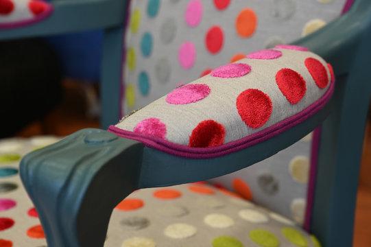 fauteuil multicolor