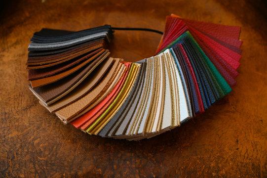 échantillons de cuir pour fauteuils