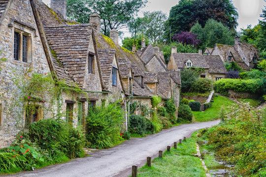 Houses of Arlington Row in the village of Bibury, England, United Kingdom