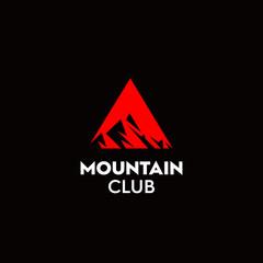 The mountain climber club logo premium vector