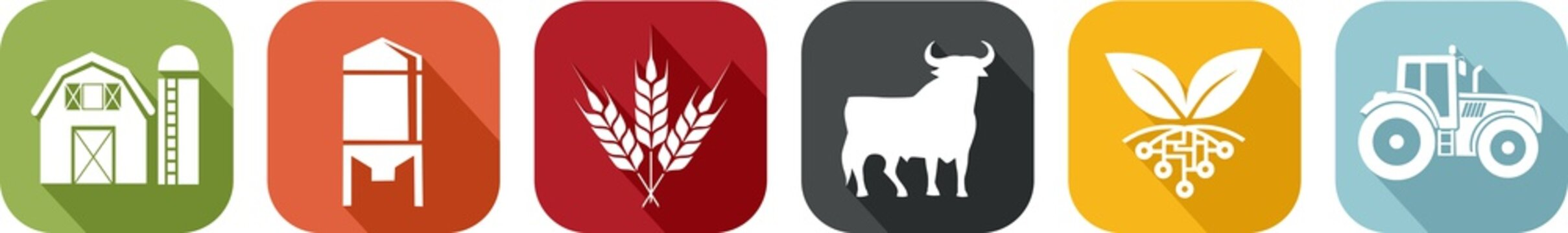 Icon of various symbols of agriculture