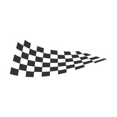 Race flag icon vector illustration isolated on white background. Speed symbol.