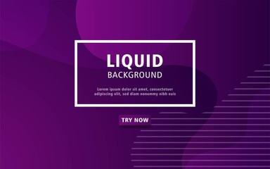 Foto auf AluDibond Violett modern abstract liquid color background. dynamic textured geometric elements design.can be used on posters,banner,web and any more