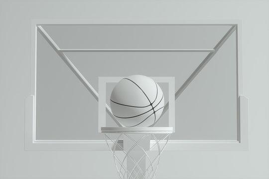 3D model of basketball stands, 3d rendering.