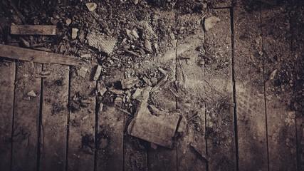 Obraz High Angle View Of Stones On Wood - fototapety do salonu