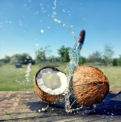 Kokosnuss zerteilen