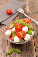 Wall Mural - tomato salad with mozzarella and basil
