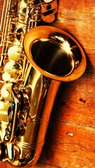 Close-up Of Saxophone On Table